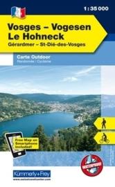 Wandelkaart Le Hohneck  | Kümmerly & Frey 04 | 1:35.000 | ISBN 9783259007280