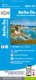 Wandelkaart 0822OT - 0822 OT Belle-Ile - Ile d`Houat et d`Hoëdic | Bretagne | ISBN 9782758551355