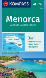 Wandelkaart  Menorca - Balearen |  Kompass 243 | 1:50.000 | ISBN 9783990443828