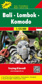 Wegenkaart Bali, Lombok, Komodo | Freytag & Berndt | 1:125.000 | ISBN 9783707917161