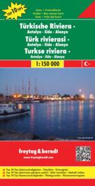 Wegenkaart Turkse Riviera - Antalya-Side-Alanya  | Freytag & Berndt | 1:150.000 | ISBN 9783707907698