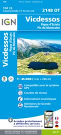 Wandelkaart Vicdessos, Pic d`Estats et de Montcalm, Pyrenees-Ariegeoises | Pyreneeën | IGN 2148OT - IGN 2148 OT