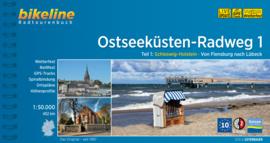 Fietsgids Ostseeküsten Radweg 1 : Flensburg - Lübeck - 440 km.| Bikeline | ISBN 9783850009638