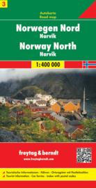 Wegenkaart Noorwegen | Freytag & Berndt Noorwegen Noord-Narvik | ISBN 9783707904642