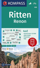 Wandelkaart Ritten - Renon - Sarntaler Alpen | Kompass 068 | 1:25.000 | ISBN 9783990446225