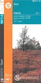 Topografische kaart Belgie NGI 50 / 1-2 Sart - Xhoffraix - Botrange - Baraque Michel - Ovifat | 1:25.000 - ISBN 9789462352308