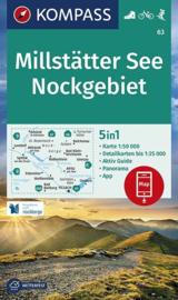 Wandelkaart Millstätter see - Nockgebiet | Kompass 63 | 1:50.000 | ISBN 9783990447185