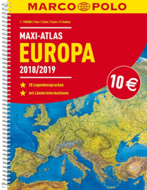 Wegenatlas Europa Maxi | Marco Polo - Mair | 1:2 miljoen | ISBN 9783829737333