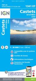 Wandelkaart Castets, St-Girons, Moliets-et-Maa, Leon, Lit-et-Mixe | Franse Atlantische Kust | IGN 1341ET - IGN 1341 ET | ISBN 9782758545231
