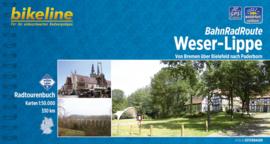 Afgeprijsd - Fietsgids BahnRadRoute Weser-Lippe von Bremen über Bielefeld nach Paderborn | Bikeline | ISBN 9783850003377