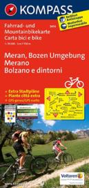 Fietskaart Meran - Bozen Umgebung   Kompass 3414   1:70.000   ISBN 9783850263436