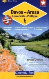 Wandelkaart Davos - Arosa 13 | Kümmerly + Frey | 1:60.000 | ISBN 9783259008164