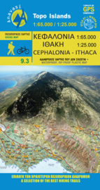 Wandelkaart Kefalonia-Ithaca | Anvasi 9.3 | 1:65.000 / 1:25.000 | ISBN 9789609412131