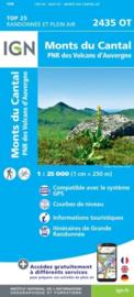 Wandelkaart Monts du Cantal | PN Volcans D`Auvergne | IGN 2435 OT - IGN 2435OT