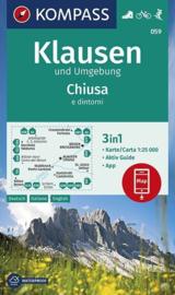 Wandelkaart Klausen und Umgebung / Chiusae e dintorni | Kompass 059 | 1:25.000 | ISBN 9783990447260