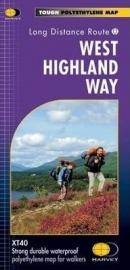 Wandelkaart West Highland Way | Harvey Maps | Schaal 1:40.000 | ISBN 9781851374588
