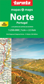 Autokaart-Fietskaart Portugal Noord | Turinta nr.1 | 1:250.000 | ISBN 9789895561087