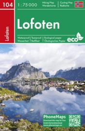 Wandelkaart - Fietskaart Lofoten | Freytag & Berndt | 1:75.000 | ISBN 988074454363