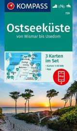 Wandelkaart Ostseeküste, Von Wismar bis Usedom | Kompass 739 | 1:50.000 | ISBN 9783990449257