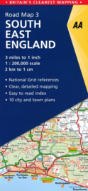 Wegenkaart Engeland Zuidoost nr. 3 | AA Publishing | 1:200.000 | ISBN 9780749579036