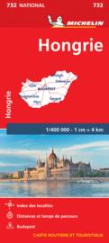 Wegenkaart Hongarije  | Michelin | 1:400.000 | ISBN 9782067171862