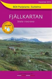 Wandelkaart Padjelanta : Sulitelma Fjällkarta | Lantmateriet BD09 | ISBN 9789158895874