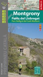 Wandelkaart montgrony - fonts del llobregat - parc natural cadi-moixero | Editorial Alpina | 1:25.000 | ISBN 9788480908566