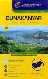 Wandelkaart Dunakanyar - Donauknie | Cartographia krt. 31 | 1:40.000 | ISBN 9789633531112