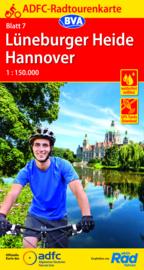 Fietskaart Lüneburger Heide - Hannover nr. 7   ADFC Radtourenkarte   1:150.000   ISBN 9783969900413