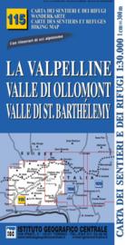 Wandelkaart La Valpelline - Valle di Ollomont |  IGC nr. 115 | 1:25.000 | ISBN 9788896455456