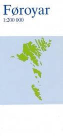 Landkaart Faroer - Faroe Islands | Kort og Matrikelstyrelsen | ISBN 7046660093108