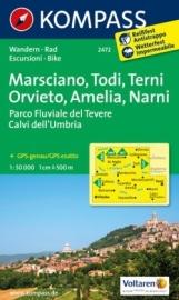 Wandelkaart Marsciano - Todi - Terni - Orvieto - Amelia - Narni | Kompass 2472 | ISBN 9783850268455