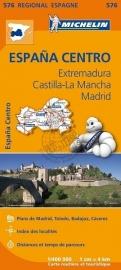 Wegenkaart Extremadura - Castilla La Mancha - Madrid - Toledo - Mérida | Michelin 576 | 1:400.000 | ISBN 9782067184329