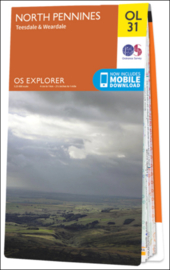 Wandelkaart North Pennines | OL 31 Explorer Maps | Ordnance Survey | 1:25.000 | ISBN 9780319242704
