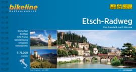 Fietsgids Etsch radweg - 345 km. | Bikeline | fietsen in Noord Italië / fietsen van Landeck naar Verona | ISBN 9783850004336
