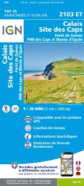 Wandelkaart Calais Site des Caps -Foret de Guines | Pays de Calais |  IGN 2103 ET - IGN 2103ET