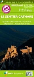 Wandelkaart Sentier Cathare (Frankrijk - Pyreneeen) | Rando Editions 09 | ISBN 9782344013397
