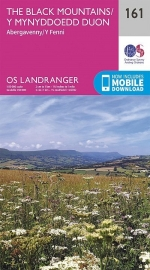Wandelkaart Ordnance Survey | Abergavenny & Black Mountains 161 | ISBN 9780319262597