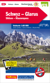 Fietskaart Schwyz / Glarus | Kümmerly+Frey nr. 12 | 1:60.000 | ISBN 9783259024126