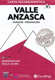 Wandelkaart Valle Anzasca oost - Vanzone - Piedimulera | Geo4Map kaart 6 | 1:25.000 | ISBN 9788899606091