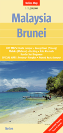 Wegenkaart Malaysia, Brunei | Nelles | 1:1,5 miljoen | ISBN 9783865742469