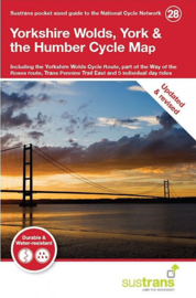 Fietskaart  Yorkshire Wolds, York & the Humber | Sustrans Cycle map nr. 28 | Middlesbrough naar Hull |  ISBN 9781900623452