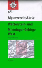 Wandelkaart Wetterstein - Mieminger West 4/1 | OAV | 1:25.000 | ISBN 9783928777193