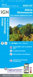 Wandelkaart Aleria, Vezzani, Ghisonaccia, PNR de la Corse  | Corsica -  IGN 4352OT - 4352 OT