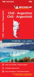 Wegenkaart Chili - Argentinië | Michelin 788 | 1:2 miljoen | ISBN 9782067185739