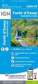 Wandelkaart Foret d`Eawy, Neufchatel-en-Bray |  IGN 2009 OT – IGN 2009OT