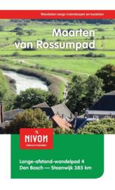 Wandelgids Maarten van Rossumpad |  LAW 4 - NIVON | Den Bosch - Steenwijk 384 km | ISBN 9789491142116