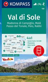 Wandelkaart Val di Sole | Kompass 119 | 1:35.000 | ISBN 9783991211211