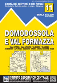 Wandelkaart Domodossola e Val Formazza |  IGC nr. 11 | 1:50.000 | ISBN 9788896455111