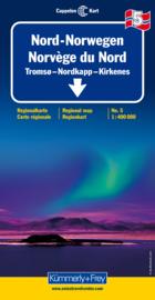 Wegenkaart Noorwegen Noord 5 | Kümmerly+Frey | 1:400.000 | ISBN 9783259010358